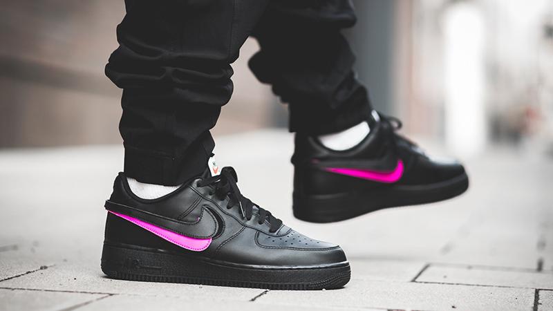 Nike Air Force 1 Velcro Swoosh Pack Black