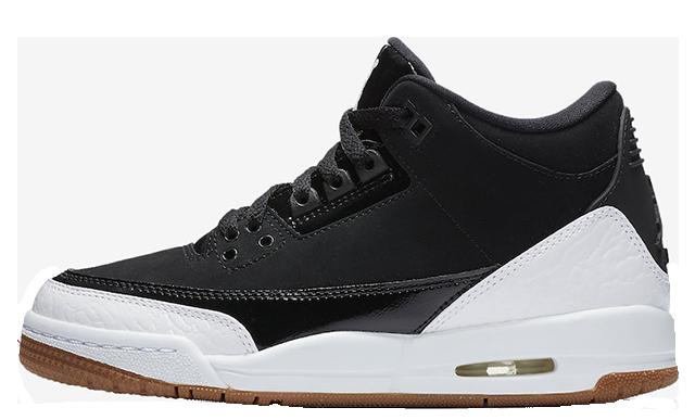 Jordan 3 GS Black White Gum 441140-022
