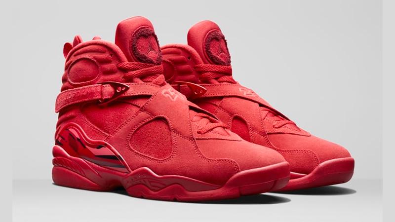 Jordan 8 Valentines Day Red Womens