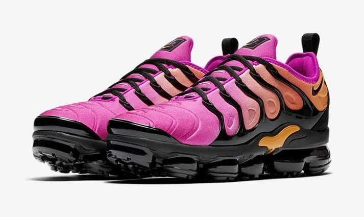 Nike Women's Air VaporMax Plus Is Dynamic In Pink And Black