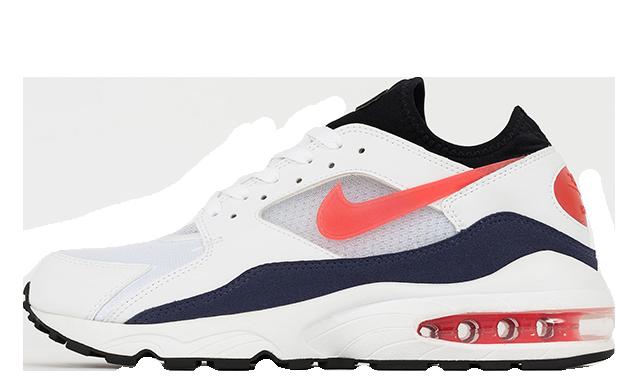 Nike Air Max 93 White Red Blue 306551-102