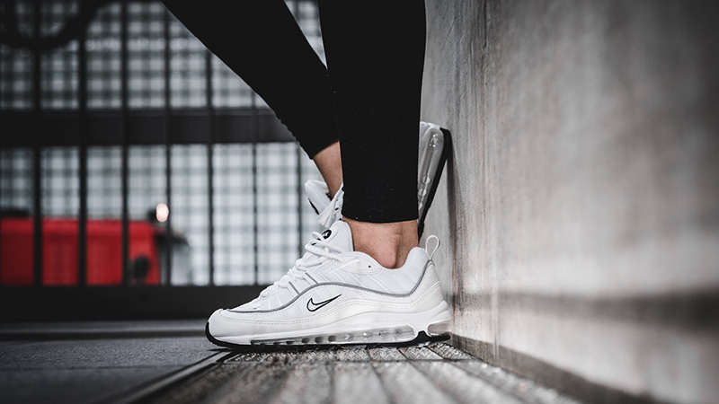 Nike Air Max 98 White Reflective Silver Womens Where To Buy