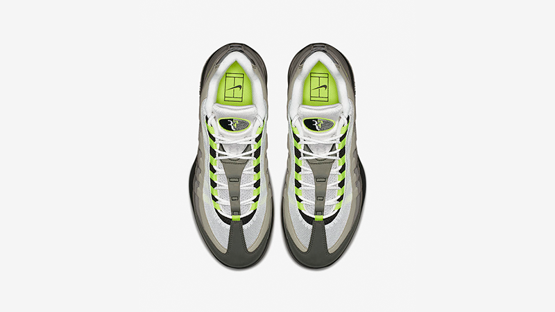 Roger Federer Vapor X Air Max 95 Neon
