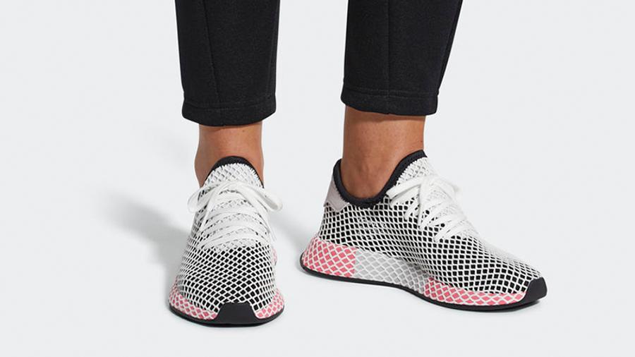 adidas Deerupt Black Red Womens   Where