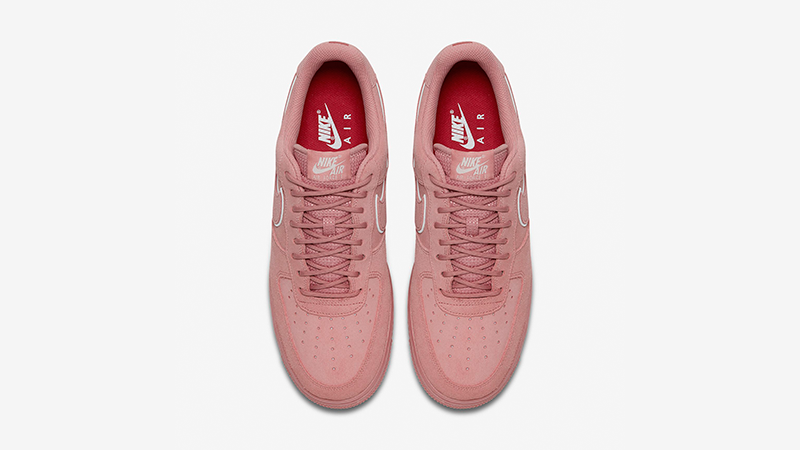 nike air force 1 lv8 red suede