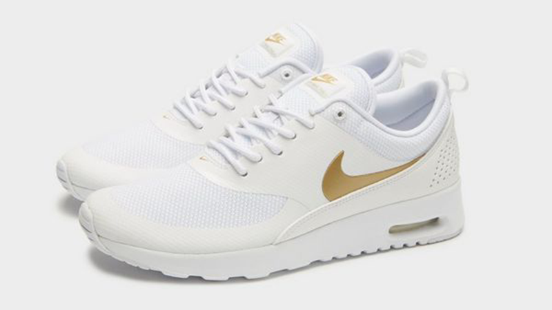 Nike Air Max Thea White Gold Womens
