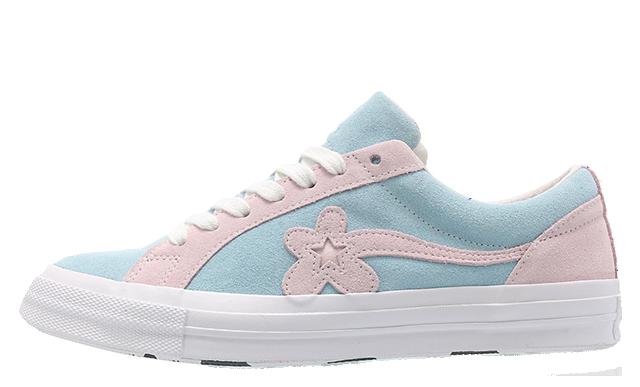 Converse x Golf Le Fleur One Star Pink Blue 162127C