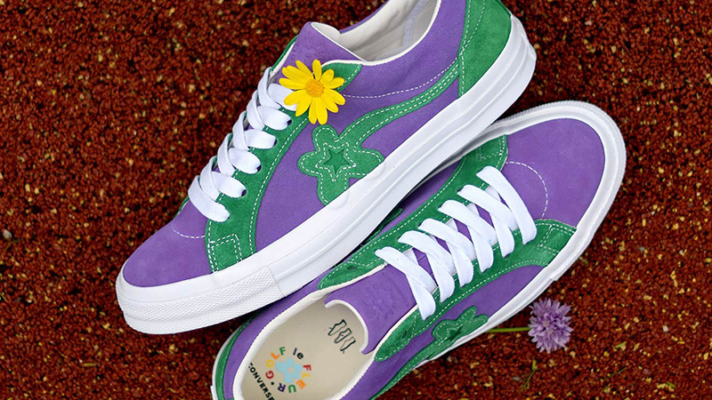 Converse X Tyler The Creator Golf Le Fleur One Star Purple Green Where To Buy 162128c The Sole Supplier