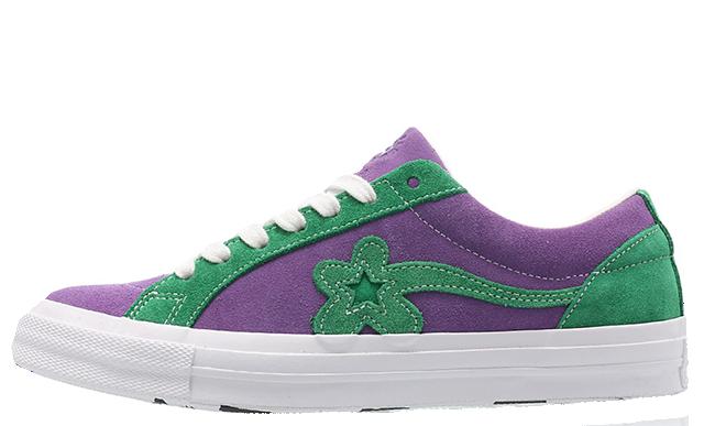 Converse x Golf Le Fleur One Star Purple Green 162128C