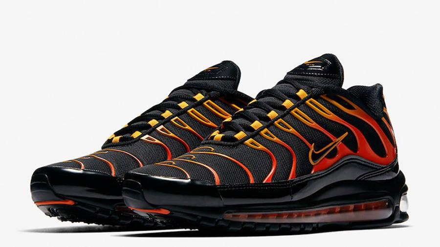 nike air max 97 black and orange