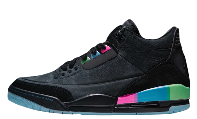 Jordan 3 Retro Quai 54 Black Multi AT9195-001