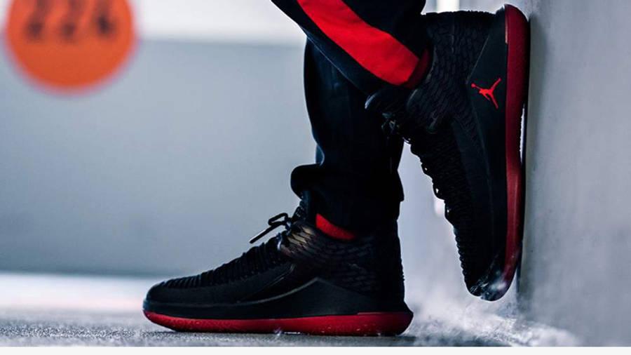 Jordan 32 Low Black Red | Where To Buy