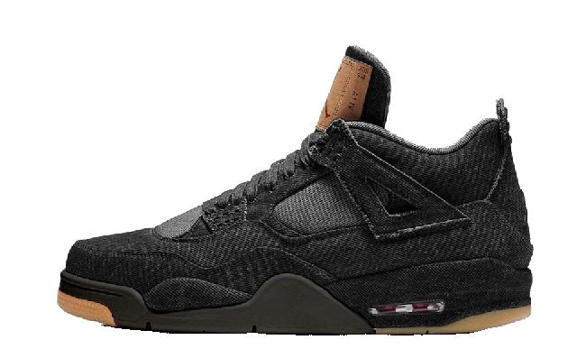 Levis x Nike Air Jordan 4 Black