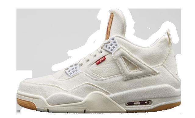 Levis x Nike Air Jordan 4 White