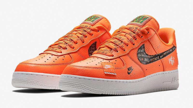 nike air force 1 orange fluo