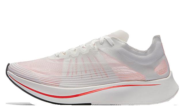 Nike Zoom Fly SP White Crimson AJ9282-106
