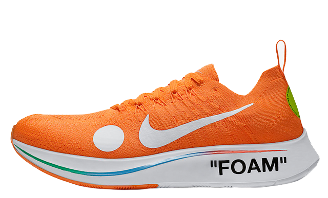 Off-White x Nike Zoom Fly Mercurial Flyknit Orange AO2115-800