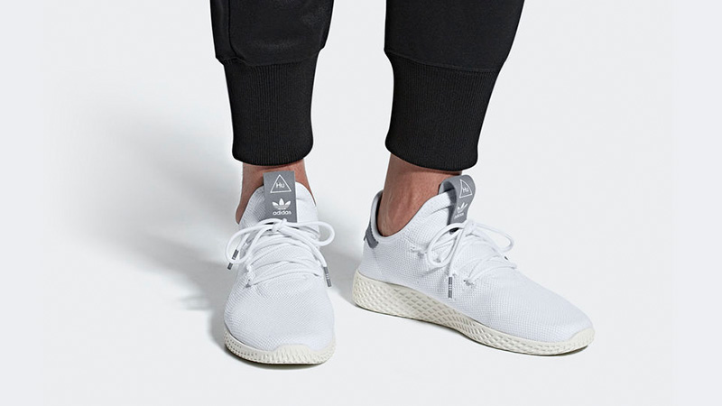 Pharrell x adidas Tennis Hu White Grey