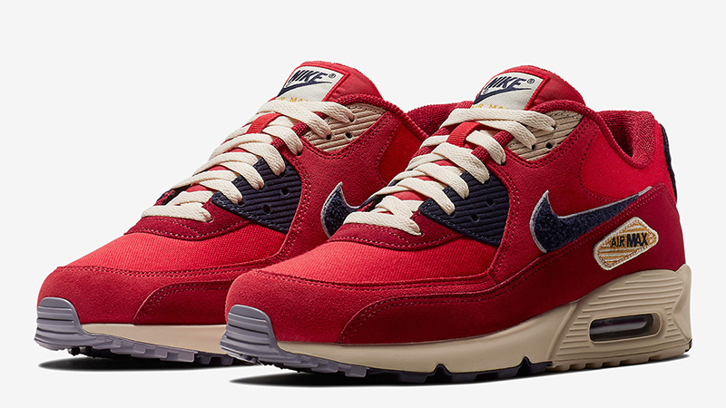 Nike Air Max 90 Chenille Swoosh Red