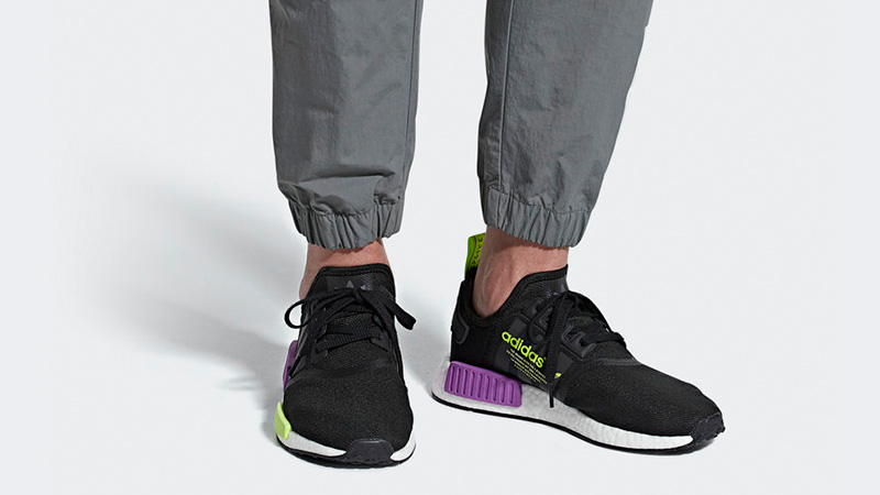 adidas nmd black green purple outlet