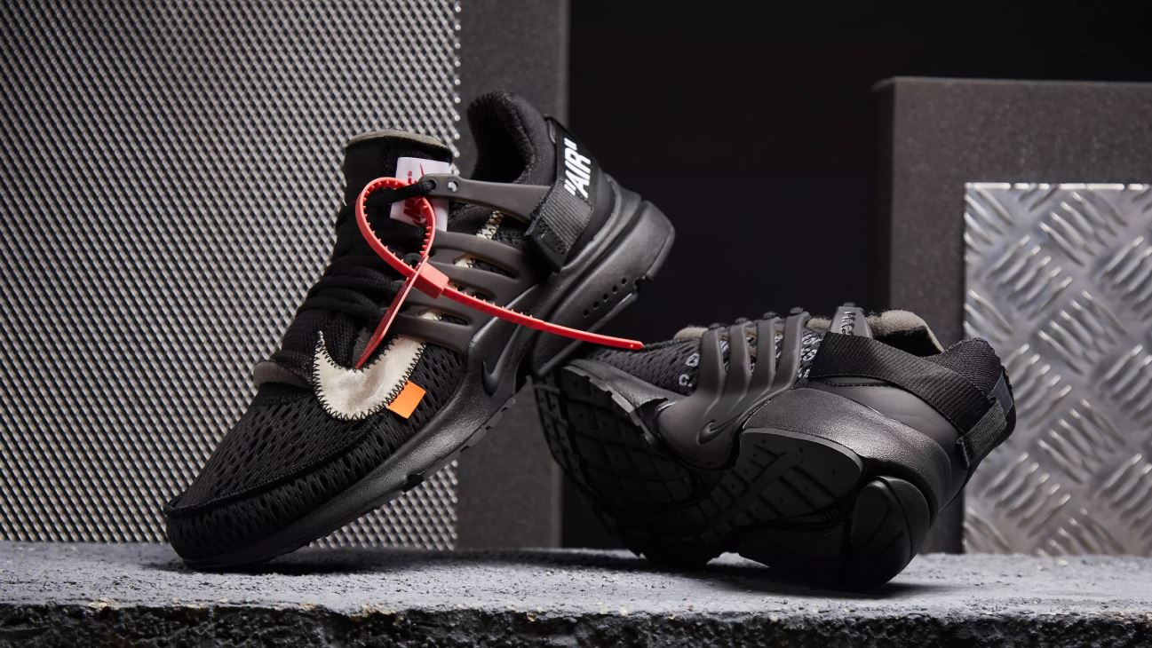 nike air presto off white nere