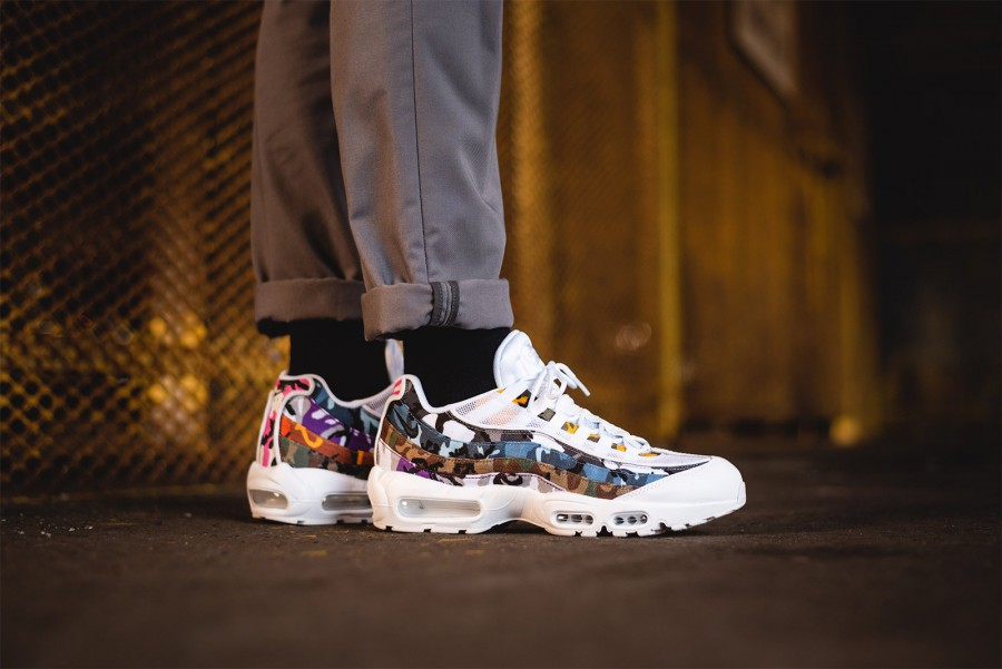 Más bien Ocho Referéndum  Nike Air Max 95 ERDL Party White Multi | Where To Buy | AR4473-100 | The  Sole Supplier