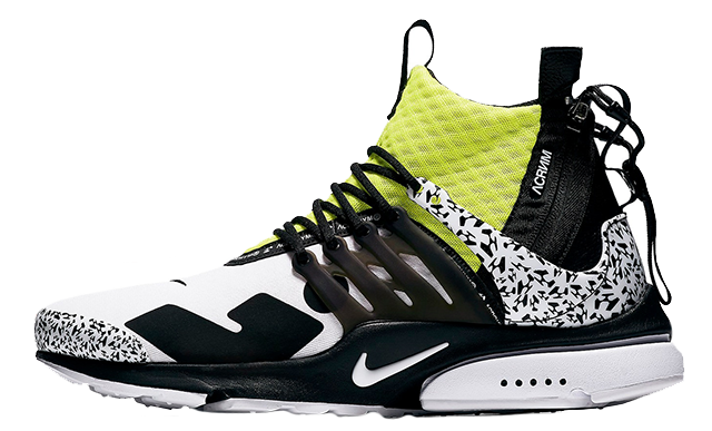 ACRONYM x Nike Air Presto Mid Racer Dynamic Yellow AH7832-100