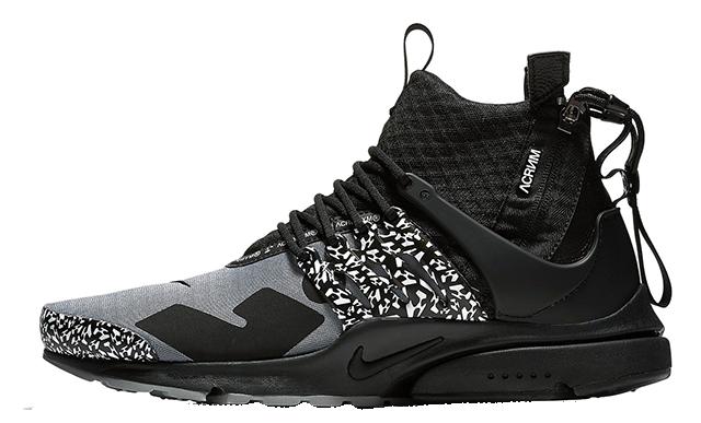 ACRONYM x Nike Air Presto Mid Racer Grey Black AH7832-001