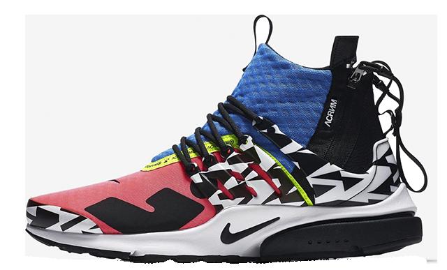ACRONYM x Nike Air Presto Mid Racer Pink Multi