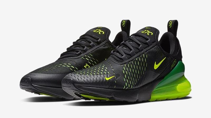 Nike Air Max 270 Mens BlackVolt Shoes UK