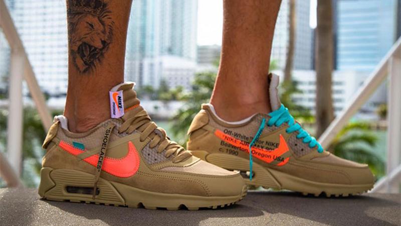 Off White x Nike Air Max 90 Desert Ore