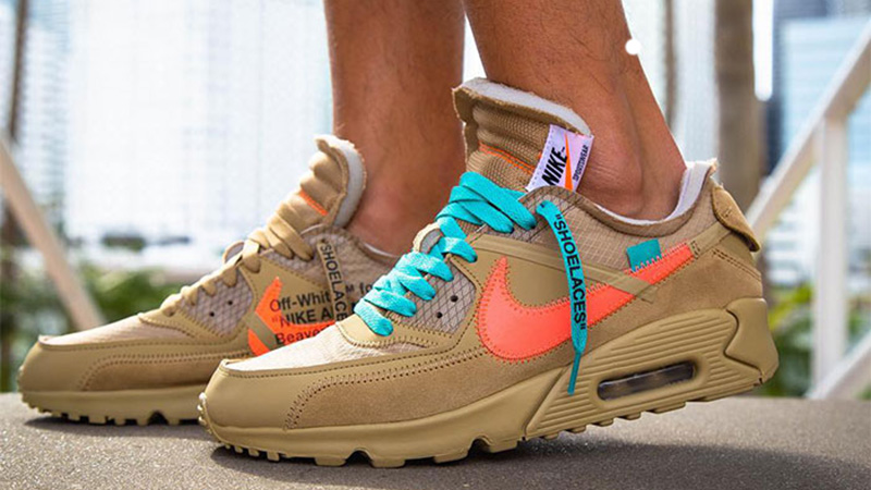 Off White x Nike Air Max 90 Desert Ore Chaussures Officiel