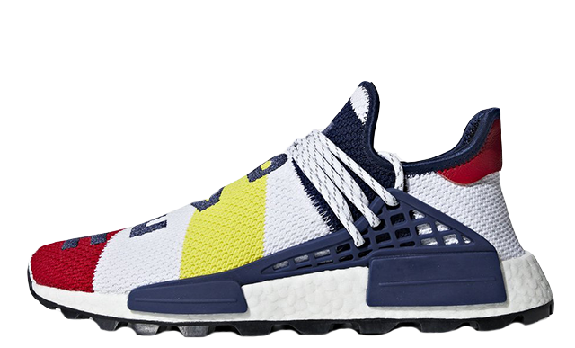 Pharrell Williams x adidas NMD Hu BBC Scarlet Multi