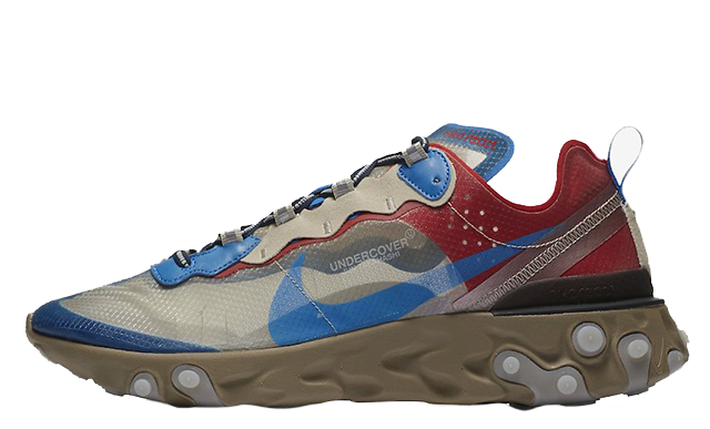 Undercover x Nike React Element 87 Khaki Red