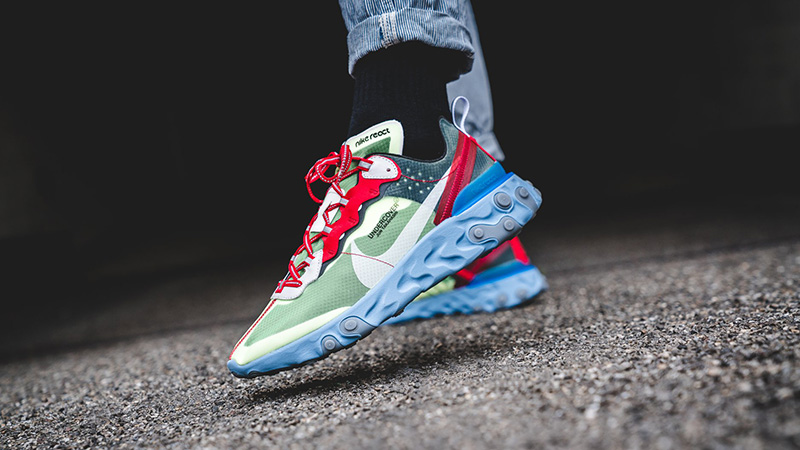 Nike React Element 87 Shoes Undercover x Nike React Element 87 Volt Blue - Where To Buy ...