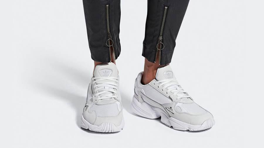 adidas Falcon Triple White Womens
