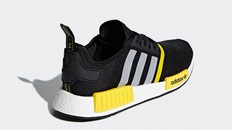 adidas NMD R1 Logo Pack Black Yellow F99713 01