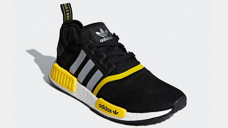 adidas NMD R1 Logo Pack Black Yellow F99713 03
