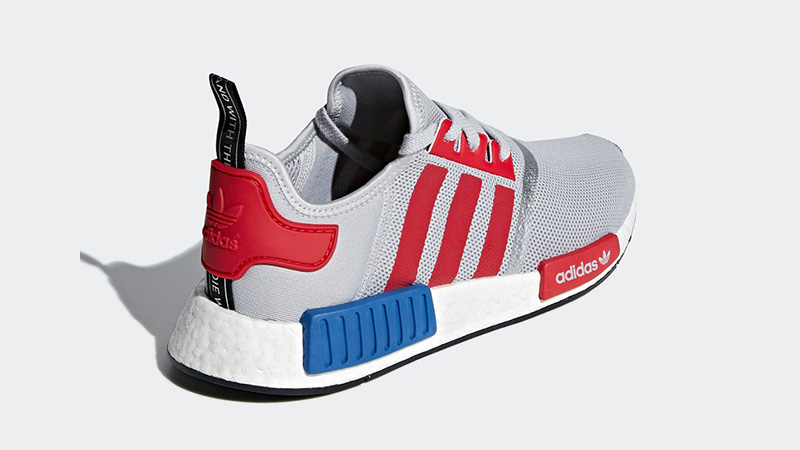 adidas NMD R1 Micropacer Silver Red F99714 00