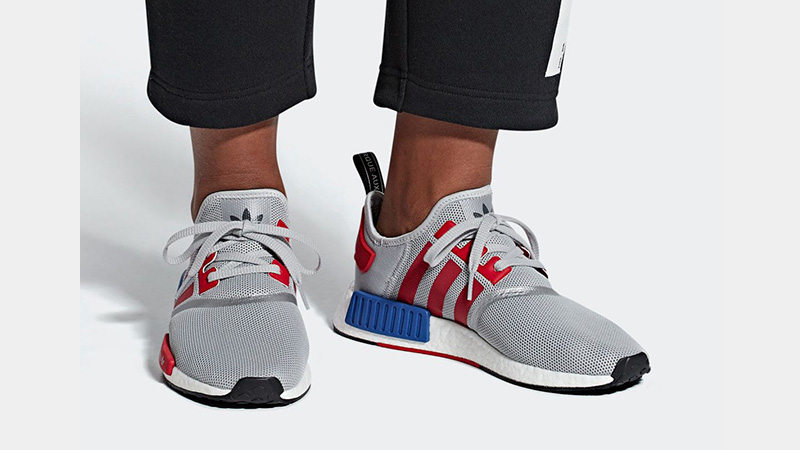 adidas NMD R1 Micropacer Silver Red F99714 01