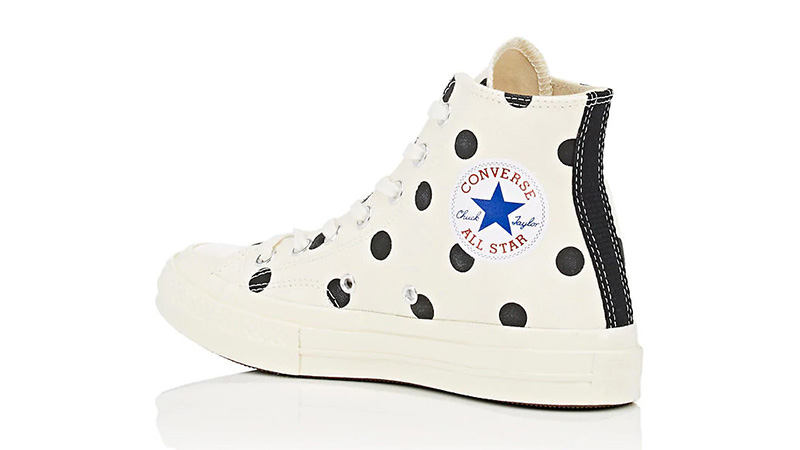Comme des Garcons Play x Converse Chuck Taylor All Star 70 Hi Polka Dot White