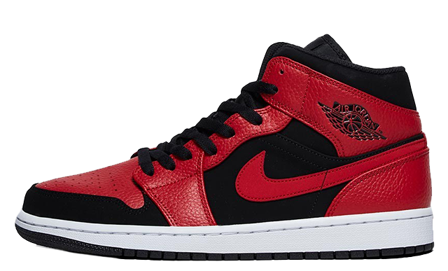 Jordan 1 Mid Black Red