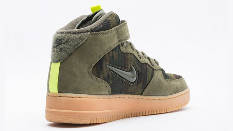 Nike Air Force 1 Jewel Mid Olive Gum