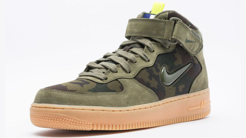 Nike Air Force 1 Jewel Mid Olive Gum