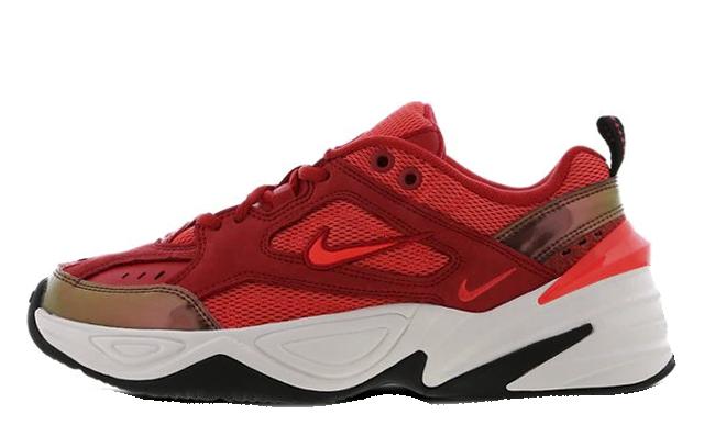 Nike M2K Tekno Red Suede Womens AV7030-600