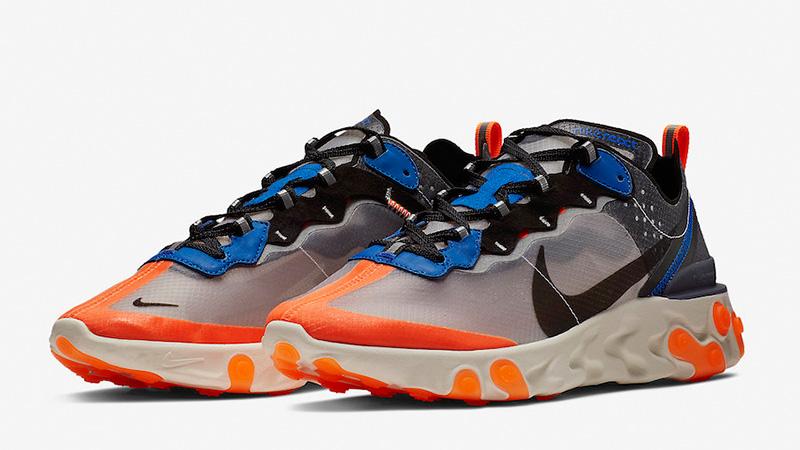 Nike React Element 87 Blue Orange AQ1090-004 03