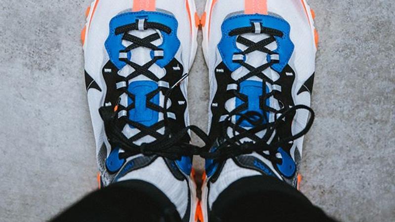 Nike React Element 87 Blue Orange AQ1090-004 06