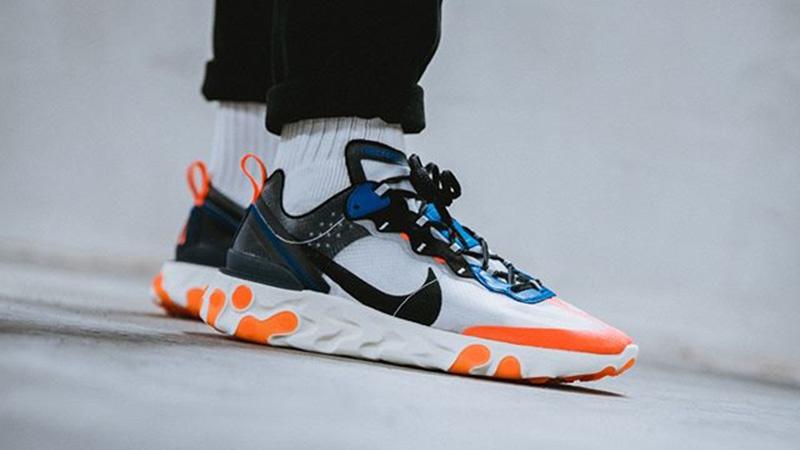 Nike React Element 87 Blue Orange AQ1090-004 07