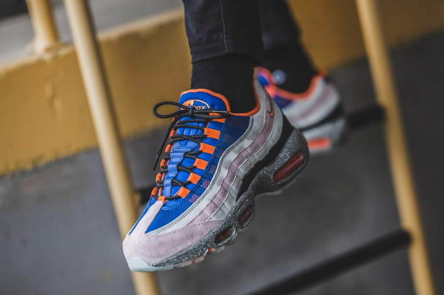 Nike Air Max 95 'Safari' BlackGraniteSafety Orange AV7014