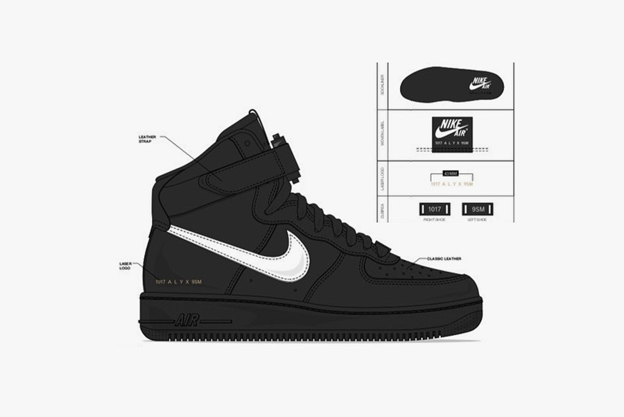 1017 ALYX 9SM x Nike Air Force 1